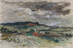 Sale 7923 - Lot 503 - George Feather Lawrence - Country Landscape 33.5 x 50cm