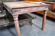 Sale 8013 - Lot 1207 - Rustic Timber Dining Table