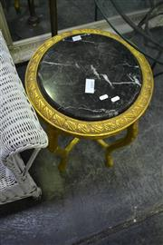 Sale 8031 - Lot 1079 - Marble Top Table on Gilded Base