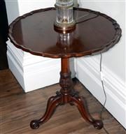 Sale 8048A - Lot 19 - A Georgian style carved mahogany occasional table on tripod base. 70 (h)  x 72 (diam)
