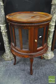 Sale 8289 - Lot 1011 - Round Mahogany Drinks Cabinet with Tray