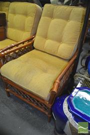 Sale 8312 - Lot 1053 - Pair of Cane Armchairs