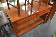 Sale 8338 - Lot 1611 - Timber Hall Table with Two Drawers and Tier Below