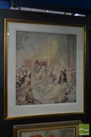 Sale 8525 - Lot 2001 - Norman Lindsay Print - City of Joy 80 x 70cm (frame size) see details verso, Odana edition 231/600