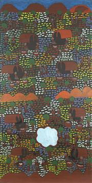 Sale 8718 - Lot 518 - Lucky Morton Kngwarreye (c1952 - ) - Camping in the Old Days, 2004 acrylic on linen