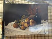 Sale 8927 - Lot 2063 - Artist Unknown - Still Life - Wine, Quince and Grapesacrylic, 50 x 70cmn, signed