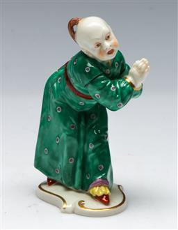 Sale 9164 - Lot 226 - A Nymphenburg figure of a Chinese man