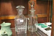 Sale 8311 - Lot 28 - Cut Glass Decanter & Another (1 AF)