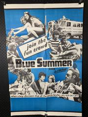 Sale 9003P - Lot 4 - Vintage Movie Poster - Blue Summer (H: 100cm x W: 68cm)