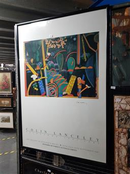 Sale 9127 - Lot 2029 - Colin Lanceley Exhibition Poster for Art Gallery of NSW, frame: 102 x 72 cm, signed lower right -