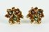 Sale 3701 - Lot 483 - A PAIR OF 18CT GOLD MULTI LEAF EARRINGS;