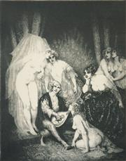 Sale 8519A - Lot 5090 - Norman Lindsay (1879 - 1969) - The Ragged Poet 35 x 27.5cm