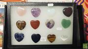 Sale 8537 - Lot 2317 - Gemstone Carved Hearts