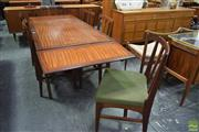 Sale 8550 - Lot 1044 - Good Quality Younger Afromosia Teak Table & Six Chairs