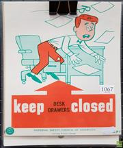Sale 8607 - Lot 1067 - Collection of Vintage Laminated Work Safety Posters