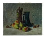 Sale 8697A - Lot 13 - Artist Unknown - Antique French still life 46 x 55cm