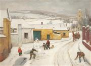 Sale 8907 - Lot 560 - Franz Windhager (1879 - 1959) - Winter Scene 50.5 x 69.5 cm