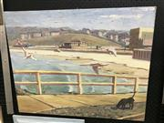 Sale 9033 - Lot 2026 - Peter Olive Maroubra Beach, 1987 oil on canvas, 62 x 77cm, signed and dated -