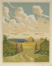Sale 9078A - Lot 5081 - John Hall Thorpe (1874-1947) (2 works) - The Open Gate (pair) 35.5 x 28 cm (sheet: 38.5 x 30.5 cm)