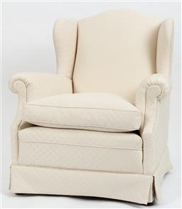 Sale 9099 - Lot 121 - A pair of upholstered armchairs, Height of back 93cm x Width 79cm