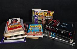 Sale 9254 - Lot 2320 - 3 Boxes of Books Mainly Regarding Movies & Biographies incl Charlies Angels, E.T, The X-Files, Dynasty, Mork & Mindy etc