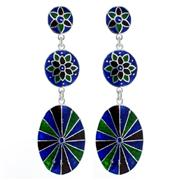 Sale 7982B - Lot 164 - Silver enamel earrings
