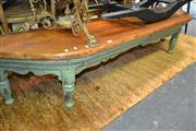 Sale 8161 - Lot 1024 - Carved Timber 3 Seater Bench