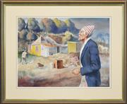Sale 8309 - Lot 597 - Terence (John) Santry (1910 - 1990) - Keeping out the Cold 55 x 75cm