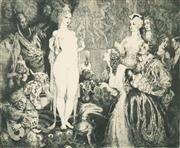 Sale 8519A - Lot 5091 - Norman Lindsay (1879 - 1969) - Priestess to the Magi 22.5 x 27.5cm