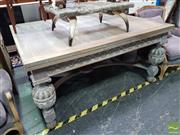 Sale 8554 - Lot 1014 - Shabby Chic Extension Dining Table