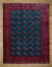 Sale 8566C - Lot 38 - Mid C20th Persian Turkman Silk Base 280cm x 210cm