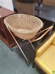 Sale 8620 - Lot 1077 - Wicker Washing Basket on Stand