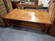 Sale 8988 - Lot 1067 - Large Timber Coffee Table (h:46 x d:160 x d:90cm) -