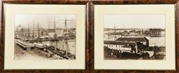 Sale 9164 - Lot 507 - The Cubis Collection Framed Lithographs of Circular Quay (2) (46cm x 56cm),