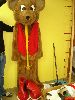 Sale 7490 - Lot 46 - 1 BROWN FUR TEDDY BEAR CIOSTUME WITH RED VEST