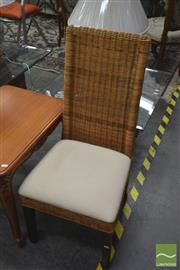 Sale 8257 - Lot 1094 - Set of Four Wicker Dining Chairs