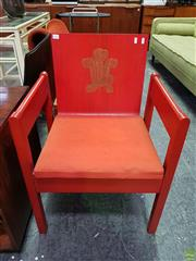 Sale 8566 - Lot 1023 - A Plywood Investiture Chair in Red By Earl of Snowden