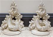 Sale 8568A - Lot 49 - A pair of Rococo style composite brackets, H 28cm