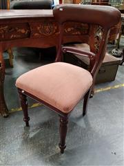 Sale 8688 - Lot 1082 - Chair with Pale Pink Upholstered Seat