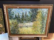 Sale 8888 - Lot 2030 - A Countryscape Painting by Unknown Artist 99 x 124cm (frame)