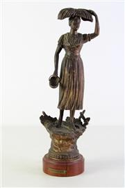 Sale 8944T - Lot 603 - Small metal figure of L'agriculture (H39cm)