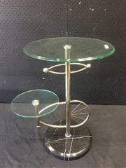 Sale 9017 - Lot 1067 - Metal and Glass Side Table (h:60cm)