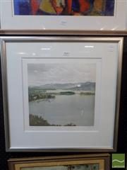 Sale 8407T - Lot 2030 - Artist Unknown (European School), Lake Scene, colour etching, 32 x 34.5cm, limited edition, signed lower right