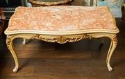 Sale 8448A - Lot 84 - Beautiful vintage Louis XV style coffee table with beautiful carved cabriole legs and skirt. Featuring original hand finished detail...