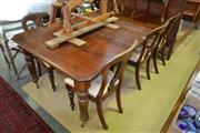 Sale 8469 - Lot 1098 - Walnut Extension Dining Table on Castors with Two Leaves (winder in office)