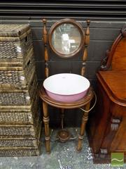 Sale 8465 - Lot 1622 - Bentwood Washstand with Bowl