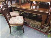 Sale 8495F - Lot 1017 - Oak Extension Dining Table & 8 Chairs