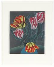Sale 8803 - Lot 2016 - Aileen Brown (1946 - ) Five Tulips, 1995 linocut, ed. 5/15, 42 x 35cm, signed and dated -