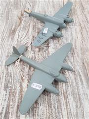 Sale 8809B - Lot 628 - Pair of Vintage Recognition Silhouette Spotter Aircraft Models by James Walker Architectural Decorations, wooden, original box (wing...