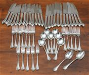 Sale 8838H - Lot 85 - An Oneida electroplated part flatware service.